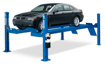 four post open front hydraulic lift